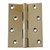 "CHROMED BRASS STRONG HINGE 3"" x 2"""