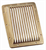 RECTANGULAR BRASS SCOOP GRATE 224 x 168mm