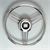 STEERING WHEEL S/STEEL   GRIP + SPOKES 350mm