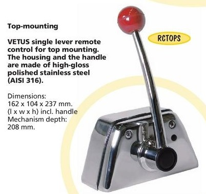 Top Mounted Single Lever Chrome Control