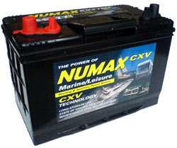 NUMAX XV DUAL MARINE SEALED BATTERY 105AH C20