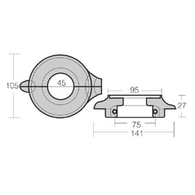 SAIL DRIVE ANODE VOLVO 2002/2003