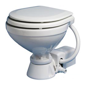 OCEAN ELECTRIC STD COMPACT TOILET WOODEN SEAT 24V