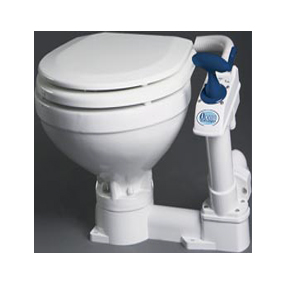 OCEAN MANUAL SPACE SAVER TOILET PLASTIC SEAT