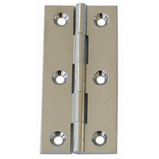 CHROMED BRASS BUTT HINGE 2