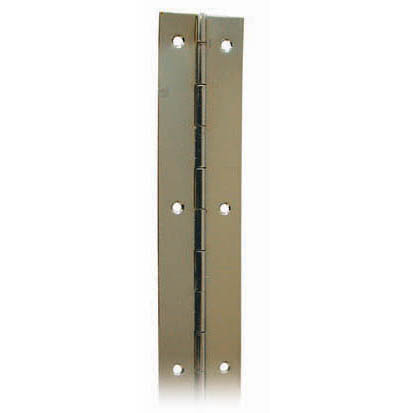 CONTINUOUS HINGE CHROMED BRASS 6'x 1 1/2
