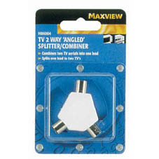 TV 2 WAY ANGLED SPLITTER COMBINER
