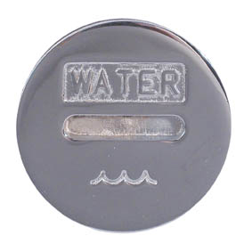 FILLERCAP CHROME WATER 38mm (1 1/2