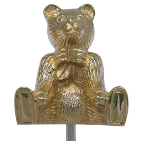 TILLER PIN TEDDY BEAR BRASS
