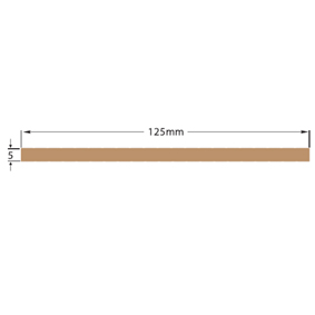 WILKS DEK-KING SOLID KING PLANK 125mm X 10M