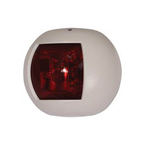 TREM ROUND LED NAV LIGHT PORT WHITE 12V (20M)