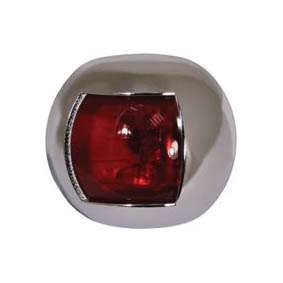 TREM ROUND LED NAV LIGHT PORT CHROME 12V (20M)