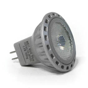 BULB MR11 1 x 2W LED 30 DEG COOL WHITE 8-35V