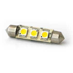 BULB SV8.5 3 LED FESTOON 37x10mm 8-35V COOL