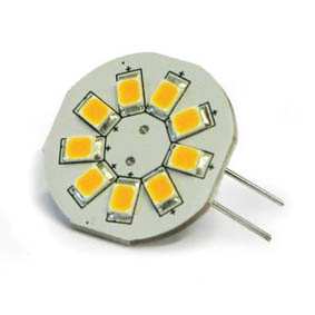 BULB G4 9 LED WARM WHITE 8-35V REAR PIN