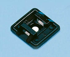 CABLE TIE FIXING 25 x 25mm (50) BLACK
