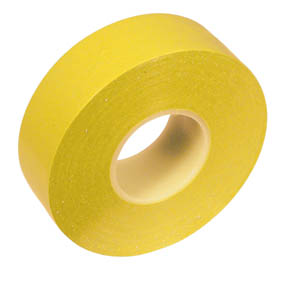 SELF ADHESIVE PVC TAPE 19mmx20M YELLOW(10)