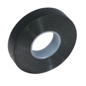 SELF ADHESIVE PVC TAPE 25mmx20M BLACK (10)