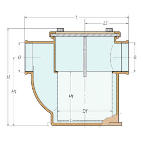 DECK/MT CLEAR TOP WATER STRAINER 3/8