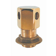 POLISHED BRASS HEX TANK VENT 1/2