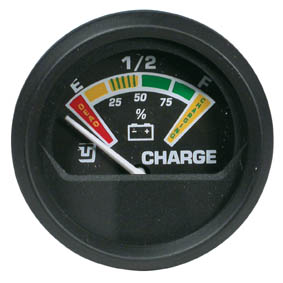 BATTERY CHARGE INDICATOR GAUGE BLACK