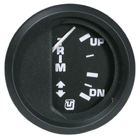 TRIM INDICATOR MERCURY GAUGE BLACK