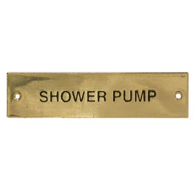 SHOWER PUMP LABEL