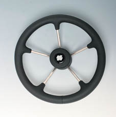 STEERING WHEEL S/S FIRM GRIP BLACK 350mm