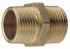 BRASS EQUAL HEX NIPPLE 4